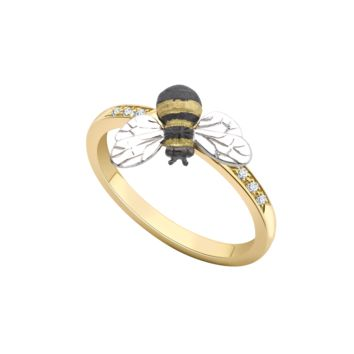 Theo Fennell - 18ct Gold & Diamond Bee Stacking Ring