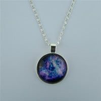 Beautiful Starry Sky Diamond Pendant Necklace