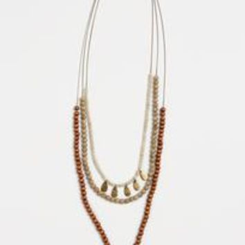 Layered Horn Necklace by THIRTY-NINE 42