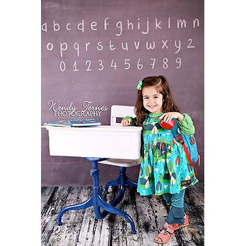 Chalkboard Letters Numbers Backdrop - 1479