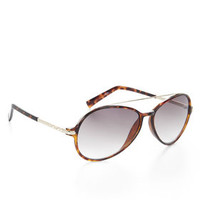 Brown BCBG Aviator Sunglasses