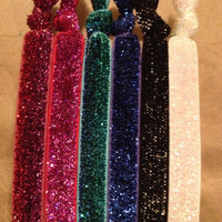 New Year's Eve Collection Ltd. Ed. Set of 6 Glitter Softies hair ties by Opus 19