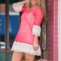 Dreamy Duo Dress, Coral