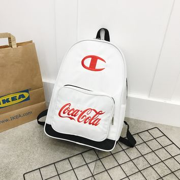 Champion & Coca Cola Laptop Backpacks College Bags School Daypack Travel Bag