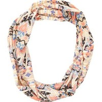 Aztec Print Infinity Scarf by Charlotte Russe - Beige