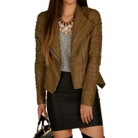 Sale-taupe Asymmetrical String Jacket