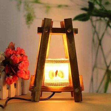 Vintage Retro Table Light For Bedroom Living Romm Night Light Table Lamp Desk Reading Light Wooden Decor