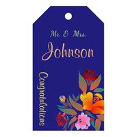 Multicolor floral pattern, wedding gift tags