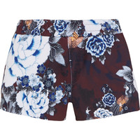 The Upside - Floral-print scuba-jersey shorts