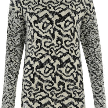Bellfield Meltham Round Neck Patterned Eyelash Knit Jumper