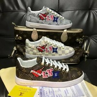LV 2019 new high-end fashion trend women's casual sports shoes