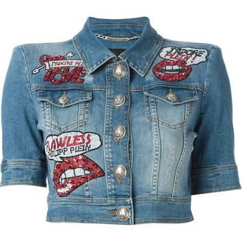 Philipp Plein 'Kisses' denim jacket