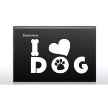 I heart dog Automobile Car Window Decal Tablet PC Sticker Automobile Window Wall Laptop Notebook Etc. Any Smooth Surface