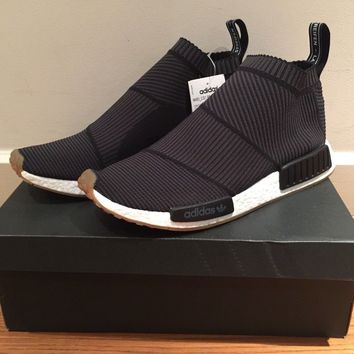 ADIDAS - NMD CS1 PK - CITY SOCK PK PRIMEKNIT - BLACK GUM - UK 12