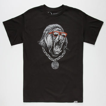 Rook Rook Ape Mens T-Shirt Black  In Sizes