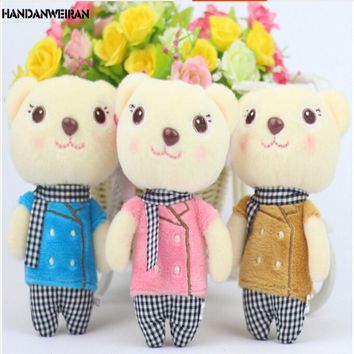 2018 POP 1PIECE 13 CM KAWAII Plush Bear TOYS Cartoon Doll STUFFED ANIMALS  bouquet Plush Bear Pendant  VALENTINES DAY GIFT BIRTH