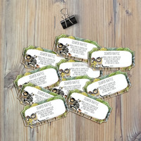 Instant Download - Where the Wild Things Are Monsters Max Alexander Douglas The Bull Baby Shower Diaper Raffle Tickets Template