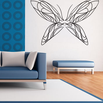 Vinyl Wall Decal Sticker Butterfly Line Art #OS_MB1036