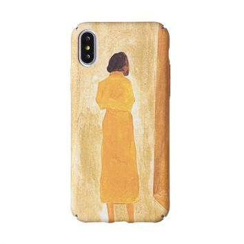 Oil Art Print Woman Cellphone Case for iPhone X