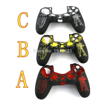 Transformers Protective Silicone Skin Case Grip Cover for PS4 Dualshock 4 Controller Shell ps4 decals for playstation 4