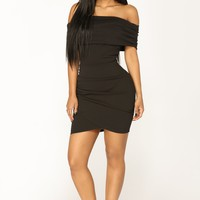 Off Topic Mini Dress - Black