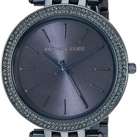 ONETOW Michael Kors Women's Darci Navy IP Three Hand Watch