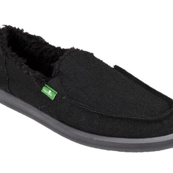 Sanuk Donna Hemp Chill Black Sidewalk Surfers