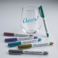 Wine Enthusiast 3 Pack Wine Glass Writer Metallic Pen: Amazon.ca: Home & Kitchen