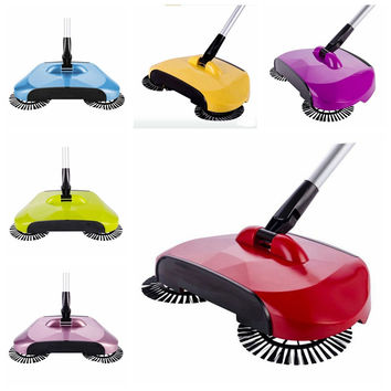 Ready Push Sweeper with Built-In Dustpan for Hardwood Floors