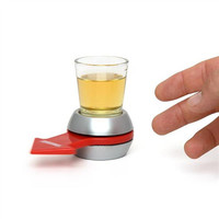 Spin The Shot Glass Drinking Game Fun Party Gifts Turntable Toys Drinking Game Shot Glass With Spinning Wheel Bar Games C0A297