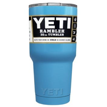 Custom Designed YETI Baby Powder Blue 30 oz Rambler Tumbler