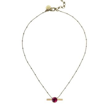 NORA NECKLACE IN RUBY