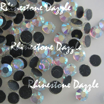 ss20 Crystal AB Hotfix Crystal Flatback Rhinestones, Aurora Borealis, 5mm Crystal AB Hotfix Crystal Rhinestones, Qty by gross count