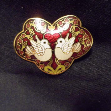 Buckle, Cloisonne Style, Enamels, Slide Buckle, Belt Buckle, Love Birds, Vibrant Colors, Gift, for Her, Girlfriend, Sweetheart