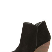 Very Volatile Whitby Black Suede Leather Wedge Booties
