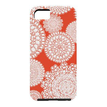 Heather Dutton Delightful Doilies Saffron Cell Phone Case