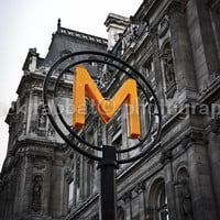 Métropolitain Paris Subway Sign Romantic Paris Architecture Fine Art Photography Black and White