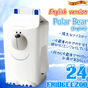 Fridgeezoo-24 English Speaking Storage Type Animal Shaped Fridge Gadget (Polar Bear)