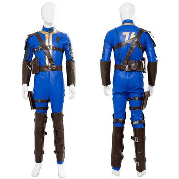 Fallout 4 Cosplay Costume Fallout 76 Vault 76 jumpsuit Vault 111 Outfit Cosplay Costume For Adult Halloween Costumes Custom Made
