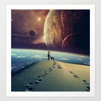 Explorer Art Print by sociablerobot