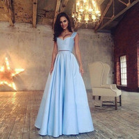 Fashion Two 2 Piece Prom Dresses 2017 Long A Line Satin Pleat Sexy Sweetheart Evening Party Prom Gowns Dress vestido de festa