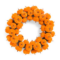 22in Velvet Pumpkin Wreath - Harvest - T.J.Maxx