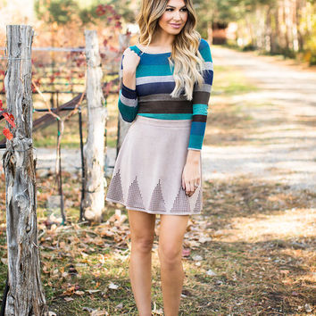 Mountains and Designs Taupe Skirt