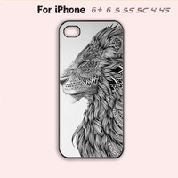 Lion Phone Case For iPhone7 7 Plus For iPhone 6 Plus For iPhone 6 For iPhone 5/5S For iPhone 4/4S For iPhone 5C-5 Colors Available