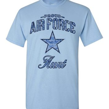 Proud Air Force Aunt T-Shirt (Camo)