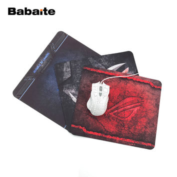 Babaite Sales Customized Mouse Pad  Gamers Republic Simple Design Classy Computer Notebook Rectangle Rubber Anti-slip Mouse Mat