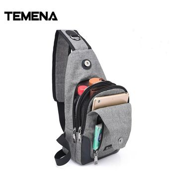 Temena New 2017 Large Capacity Sling Bag Wallet Gift USB Charge Messenger Bag Hot-Selling Crossbody Bag Drop shipping BagsAMB465