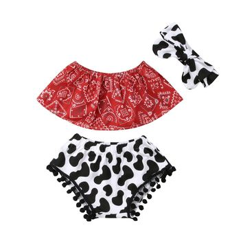 Rodeo Grounds Set (Headband included) 6-24M