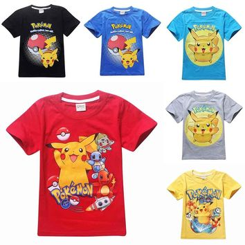 children pokemon go shirt kids pokemon t shirt for girls tops and blouse boy clothes tee tshirt cartoon t-shirt clothing costume