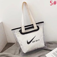 Nike & Puma & Adidas Fashion New Letter Print Transparent Canvas Shopping Bag Handbag